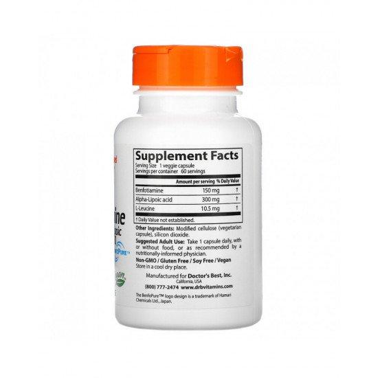 Benfotiamine 150 + Alpha-Lipoic Acid 300 60 Veggie Capsules