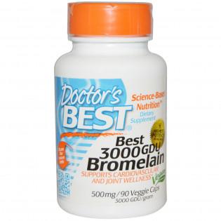 Best 3000 GDU Bromelain 500 mg 90 veggie caps