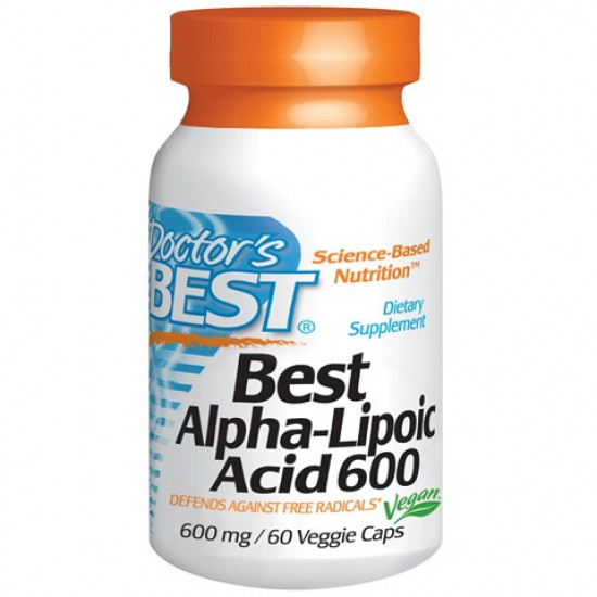 Best Alpha-Lipoic Acid 600 mg 60 Veggie Caps Doctor`s Best