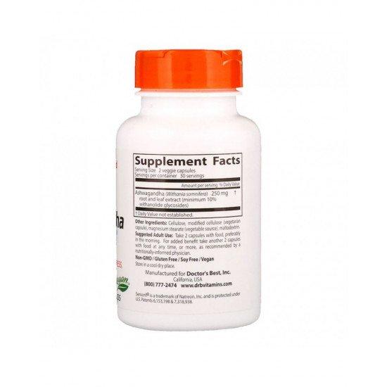 Ashwagandha With Sensoril 125 mg 60 Veggie Capsules