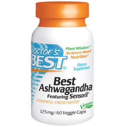 Best Ashwagandha Featuring Sensoril 125 mg 60 Veggie Caps Doctor`s Best