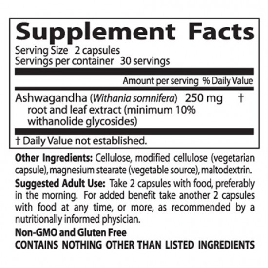Best Ashwagandha Featuring Sensoril 125 mg 60 Veggie Caps Doctor`s Best