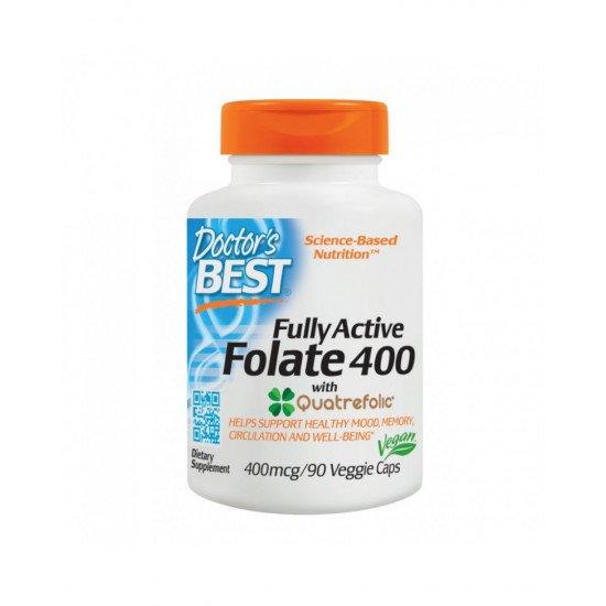 Fully Active Folate with Quatrefolic 400 mcg 90 Veggie Capsules