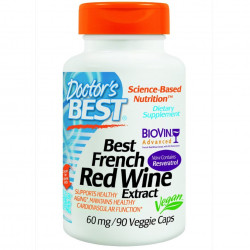 Best French Red Wine Extract 60 mg 90 veggie caps
