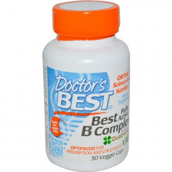 Best Fully Active B Complex 30 Veggie Capsules Doctor`s Best