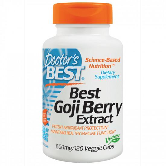 Best Goji Berry Extract 600 mg 120 Veggie Caps Doctor`s Best