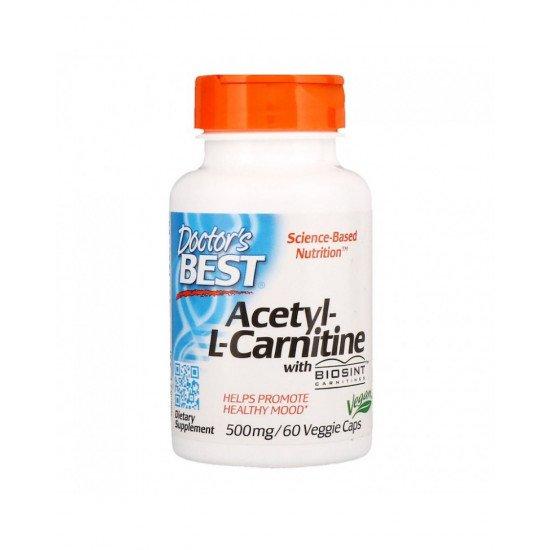 Acetyl-L-Carnitine with Biosint 500 mg 60 Veggie Capsules