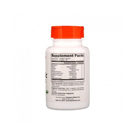 Proteolytic Enzymes 90 Delayed Release Veggie Capsules