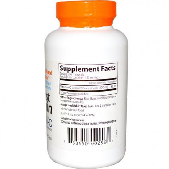 Best Vitamin C 500 mg 120 Veggie Caps Doctor`s Best