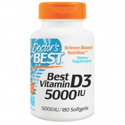 Best Vitamin D3 5000 IU 180 softgels