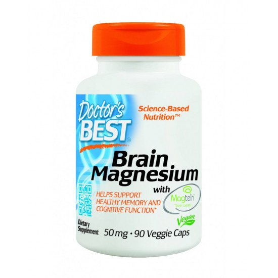 Brain Magnesium with Magtein 50 mg 90 Veggie Capsules
