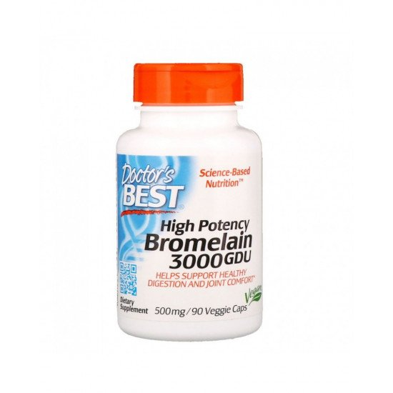 High Potency Bromelain 3000 GDU 500 mg 90 Veggie Capsules