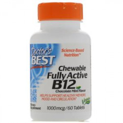 Cwewable Fully Active B12 1000mcg 60 tablets Doctor`s Best