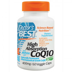 High Absorption CoQ10 with BioPerine 400 mg 60 veggie caps