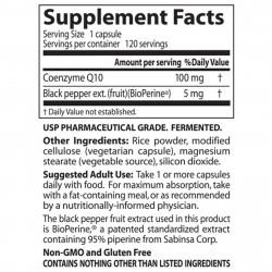 CoQ10 with BioPerine 100 mg 120 veggie caps