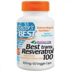 Trans-Resveratrol 100 mg 60 Veggie Caps Doctor`s Best
