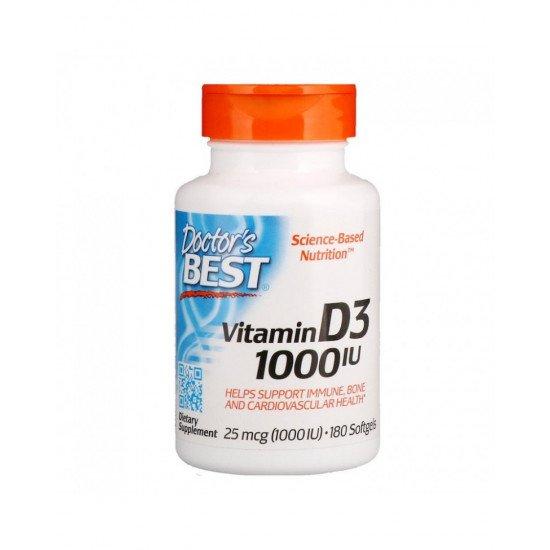 Vitamin D3 1000 IU 180 Softgels