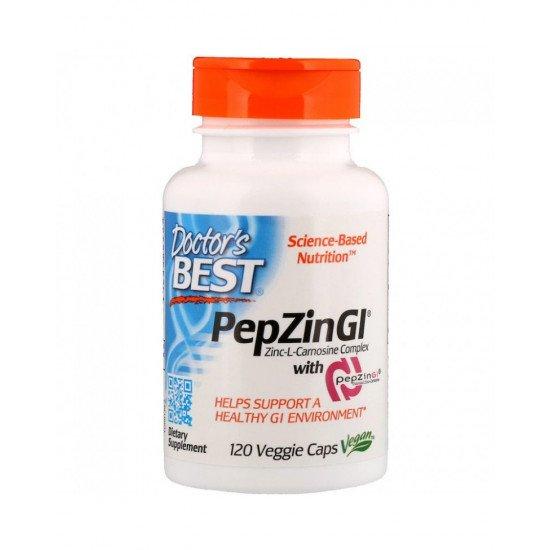 Zinc L-Carnosine Complex with PepZinGl 120 Veggie Capsules