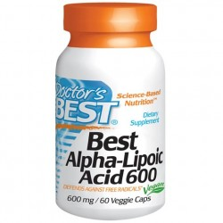 Best Alpha-Lipoic Acid 600 mg 60 Veggie Caps Doctor`s Best