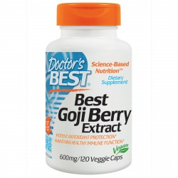Best Goji Berry Extract 600 mg 120 Veggie Caps Doctor`s Best