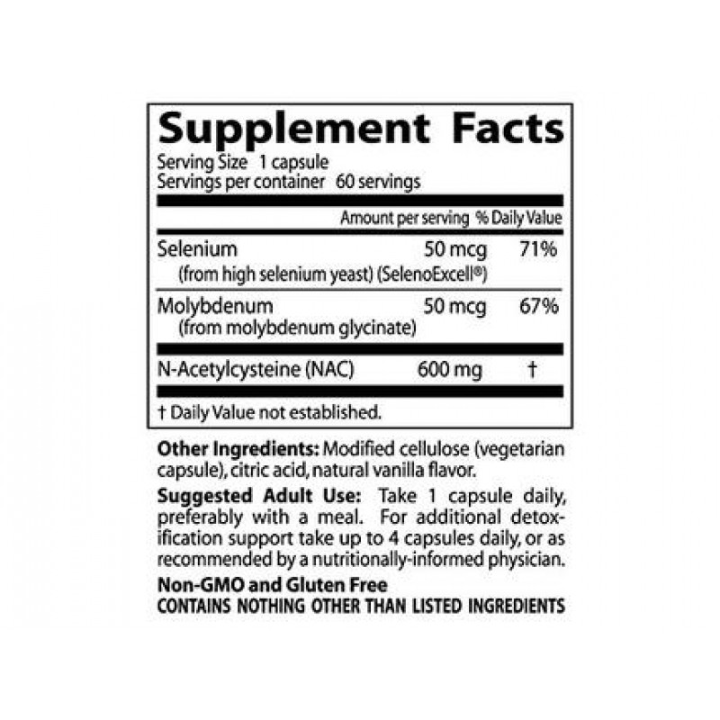 Best NAC Detox regulators 600 mg 60 veggie caps